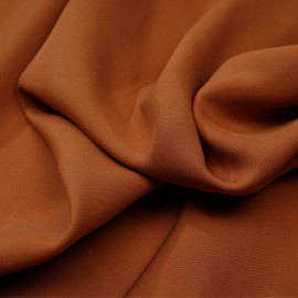 Tissu tencel sergé burnt orange - pretty mercerie - mercerie en ligne
