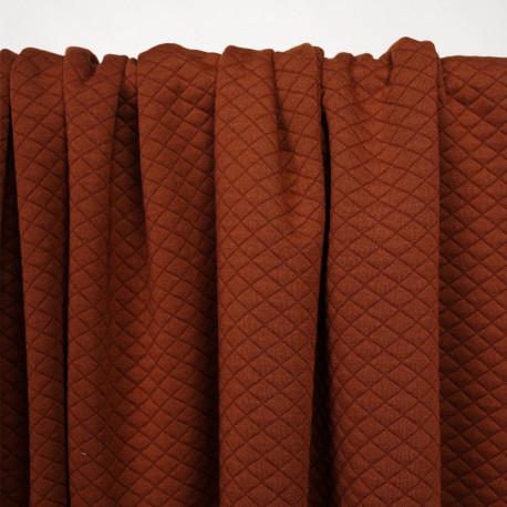 Tissu matelassé arabian spice à motif losanges - pretty mercerie - mercerie en ligne
