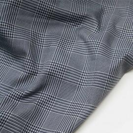 Tissu Prince de Galles gris et bleu de Prusse  x 10 cm