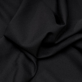 Tissu crêpe noir x 10 cm