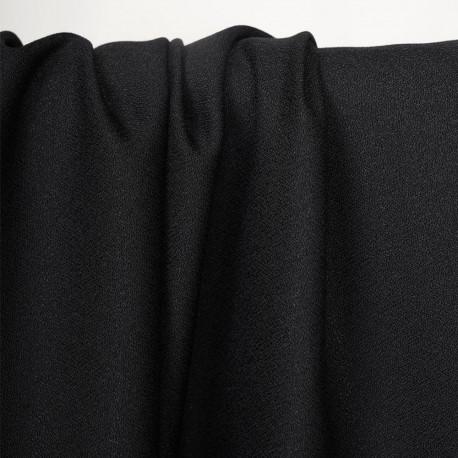Tissu crêpe noir - pretty mercerie - mercerie ne ligne