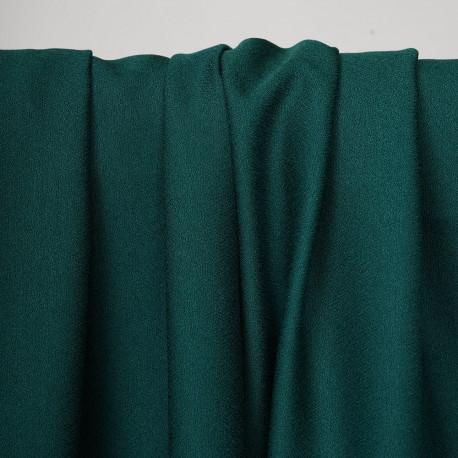 Tissu crêpe vert bayberry - pretty mercerie - mercerie en ligne