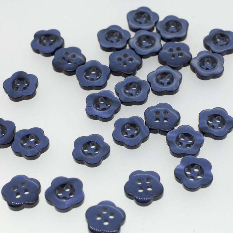 Bouton fleur bleu de minuit