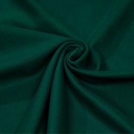 Tissu drap de laine vert eveergreen - pretty mercerie - mercerie en ligne