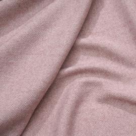 Tissu lainage chevron rose, blanc et fil lurex argent et or - pretty mercerie - mercerie en ligne