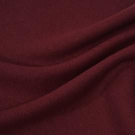 Tissu drap de laine sergé windsor wine x 10cm