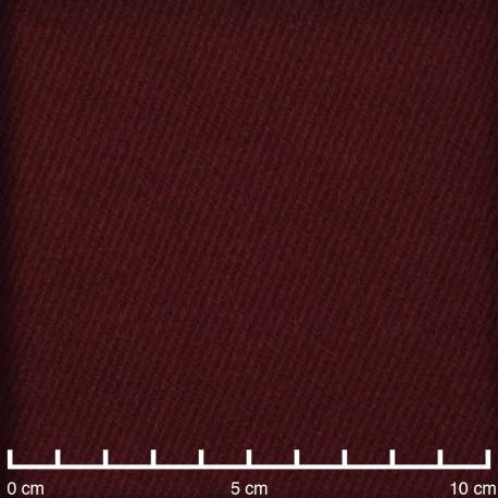 Tissu drap de laine sergé windsor wine - pretty mercerie - mercerie en ligne