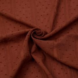 Tissu coton plumetis et bandes brodées coconut x 10cm