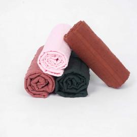 Tissu coton plumetis et bandes brodées coconut - pretty mercerie - mercerie en ligne