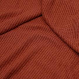 Tissu maille jersey bambou côtelé ginger spice  x 10cm
