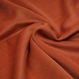 Tissu drap de laine sergé orange brulé - pretty mercerie - mercerie en ligne