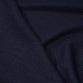 Tissu lainage bleu marine à motifs tissés losanges - pretty mercerie - mercerie en ligne