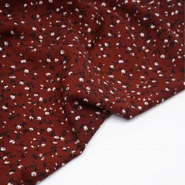 Tissu henna à motif fleuri noir et blanc - Pretty mercerie - mercerie en ligne