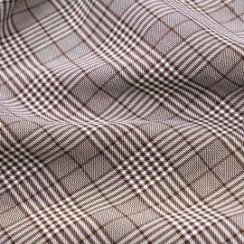 Tissu Prince de Galles brunette et blanc x 10 cm
