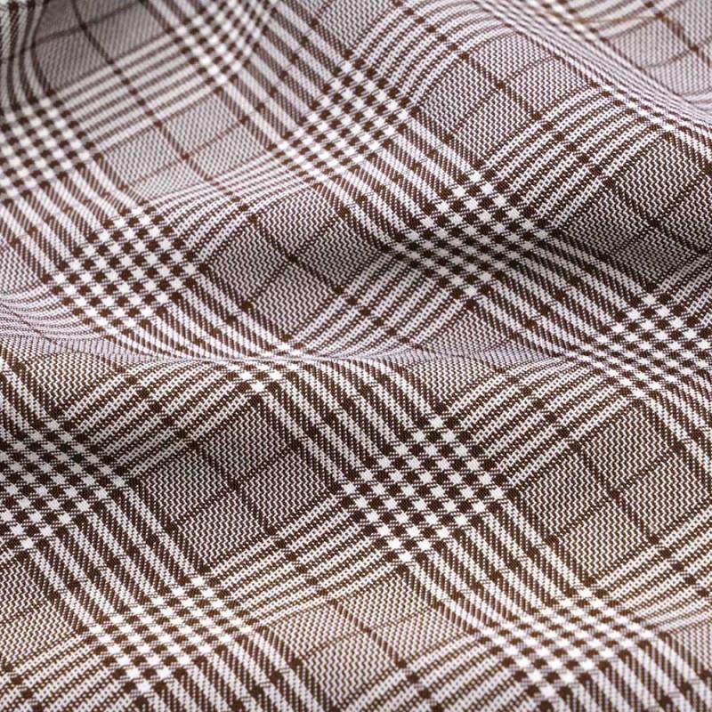 Tissu Prince de Galles brunette et blanc - pretty mercerie - mercerie en ligne