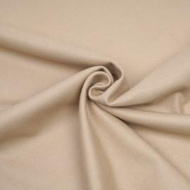 Tissu drap de laine sergé latte x 10cm