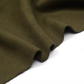 Tissu lainage vert kaki x 10cm