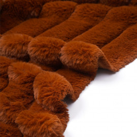 Tissu fausse fourrure fauve à rayures verticales - pretty mercerie - mercerie en ligne