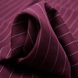 Tissu tencel sergé purple potion à motif rayures pointillés blanches  - pretty mercerie - mercerie en ligne