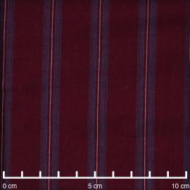 Tissu viscose rhododendron à motif rayé bleu ciel et blanc - pretty mercerie - mercerie en ligne