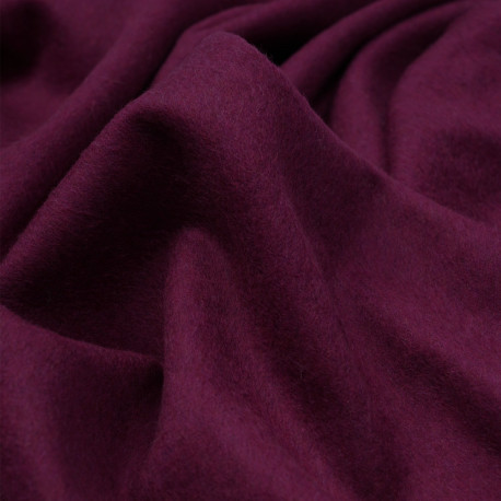 Tissu drap de laine raspeberry radiance - pretty mercerie - mercerie en ligne