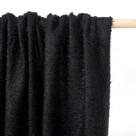 Tissu maille mohair bouclé noir - pretty mercerie - mercerie en ligne