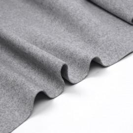 Tissu drap de laine gris chiné - pretty mercerie - mercerie en ligne