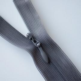Fermeture éclair invisible non-séparable grise