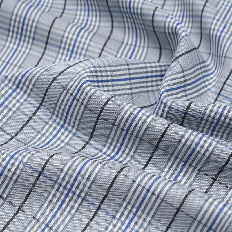 Tissu Prince de Galles bleu palace, gris, noir et blanc - pretty mercerie - mercerie en ligne