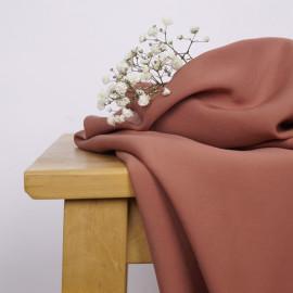 Tissu Tencel sergé vieux rose x 10cm