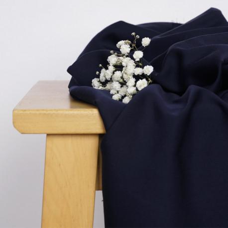 Tissu Tencel bleu nuit satiné - pretty mercerie - mercerie en ligne