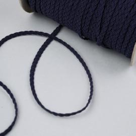 Galon tressé bleu marine 5mm - pretty mercerie - mercerie en ligne