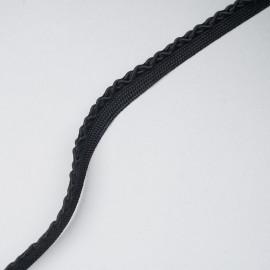 passepoil tressé noir x 1 m - pretty mercerie - mercerie en ligne