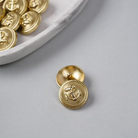 Bouton métal à queue ancre marine or 25 mm - mercerie en ligne - pretty mercerie