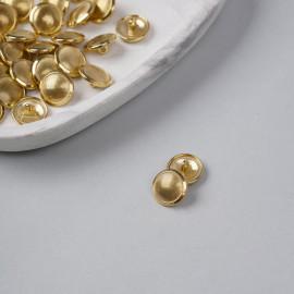 Bouton métal à queue doré et rayé 15 mm - pretty mercerie - mercerie en ligne