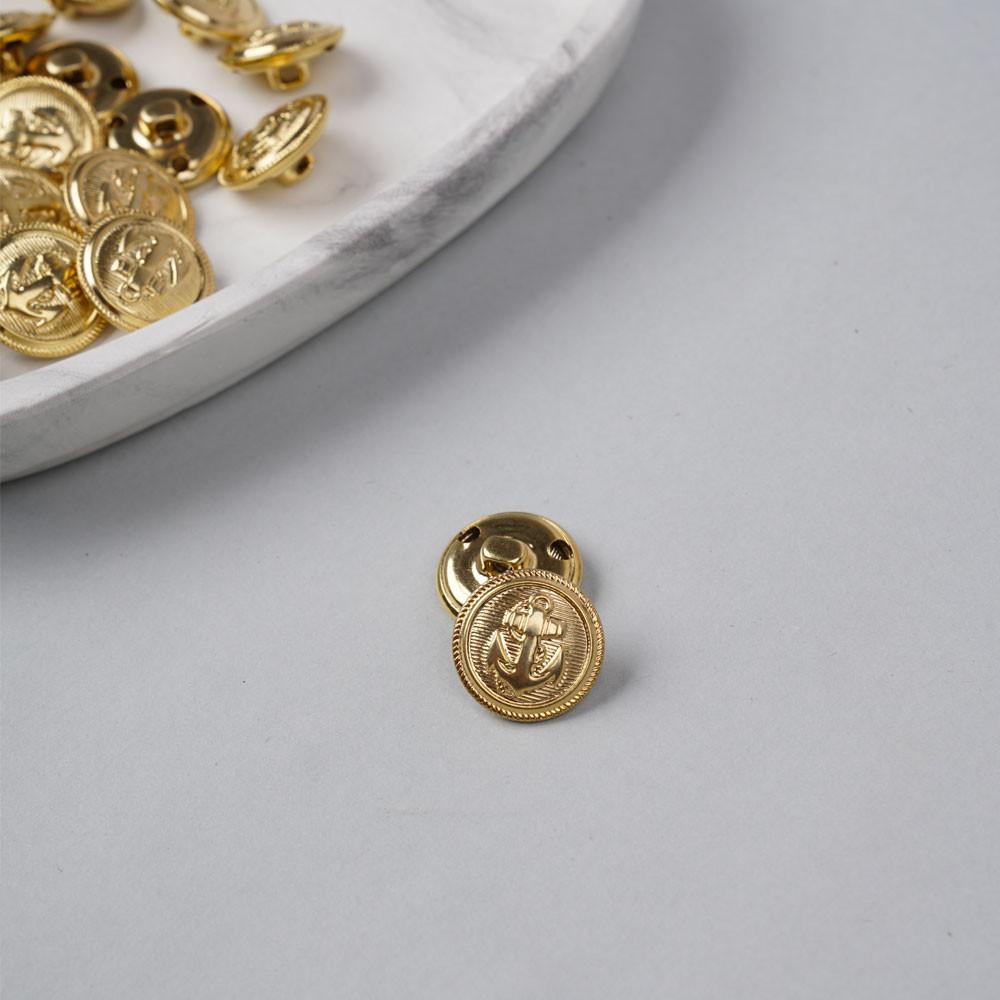 Bouton métal à queue ancre marine doré 19 mm - pretty mercerie - mercerie en ligne