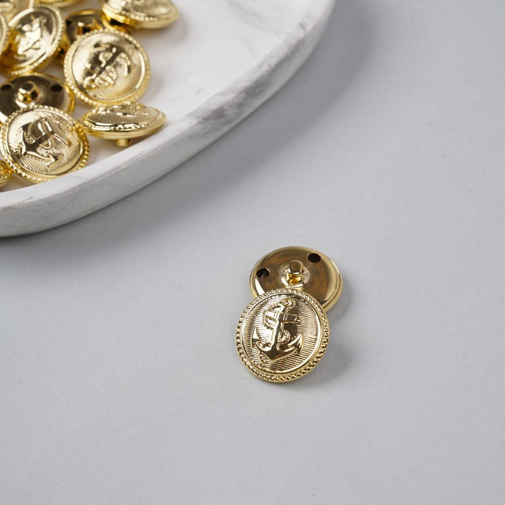 Bouton métal à queue ancre marine doré 25 mm - pretty mercerie - mercerie en ligne