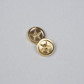 Bouton métal à coudre doré étoile de mer 15 mm - pretty mercerie - mercerie en ligne