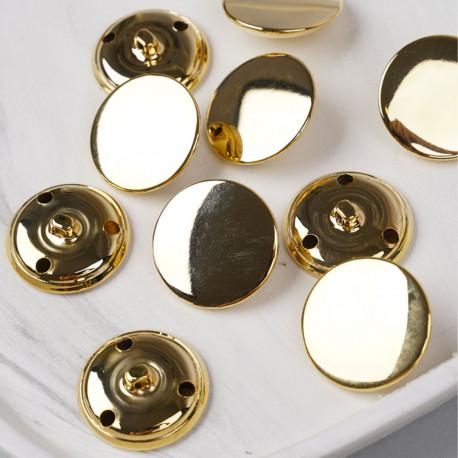 Bouton métal à queue doré 29 mm - pretty mercerie - mercerie en ligne
