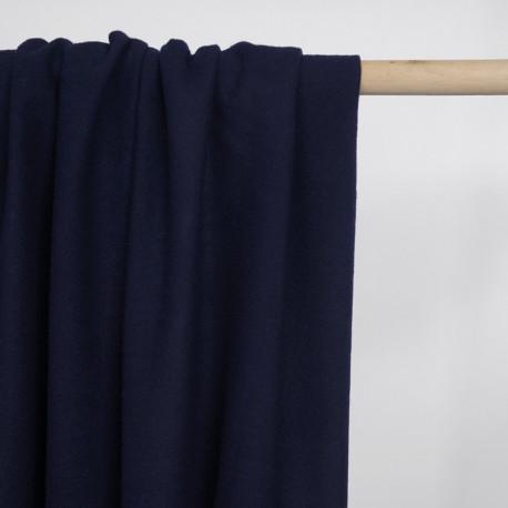 Tissu lainage bleu marine - pretty mercerie - mercerie en ligne