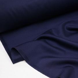 Tissu crêpe bleu profond - Pretty Mercerie - mercerie en ligne