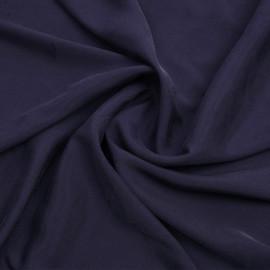 Tissu cupro et viscose bleu marine x 10 cm