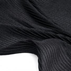 Tissu plissé noir irisé - mercerie en ligne - pretty mercerie