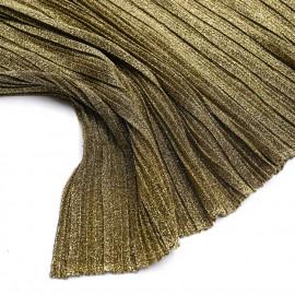 Tissu plissé pailleté doré - pretty mercerie - mercerie en ligne