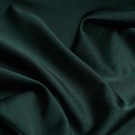Tissu crêpe de soie vert hunter satiné - pretty mercerie - mercerie en ligne