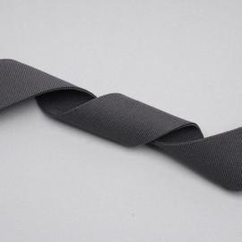 ruban élastique polyester recyclé gris tricoté | Pretty mercerie | mercerie en ligne