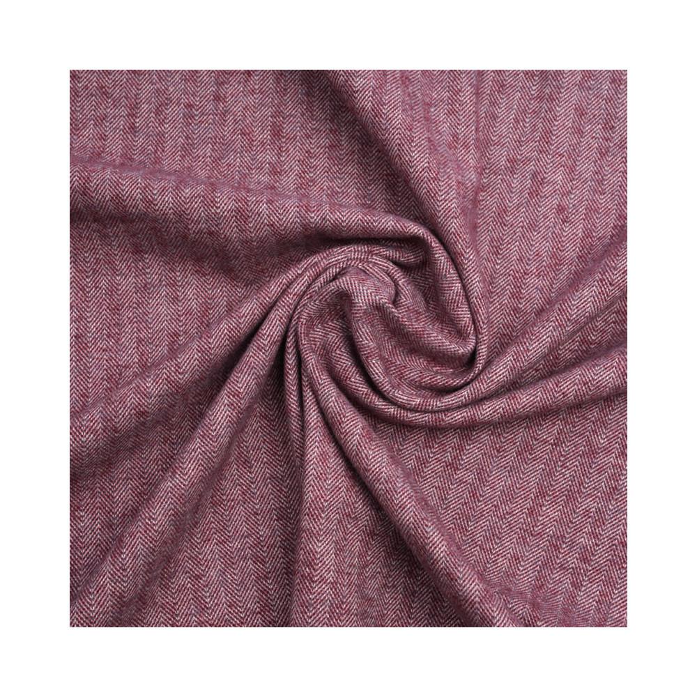 Tissu coton rhododendron à motif chevron blanc et rose | pretty mercerie | mercerie en ligne