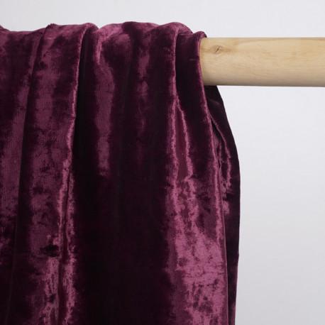 Tissu jersey velours purple  | pretty mercerie | mercerie en ligne