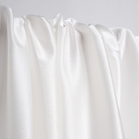 Tissu crêpe de soie blanc cassé satiné | Pretty Mercerie | mercerie en ligne