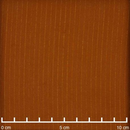 Tissu crêpe ginger à rayures lurex | Pretty Mercerie | Mercerie en ligne